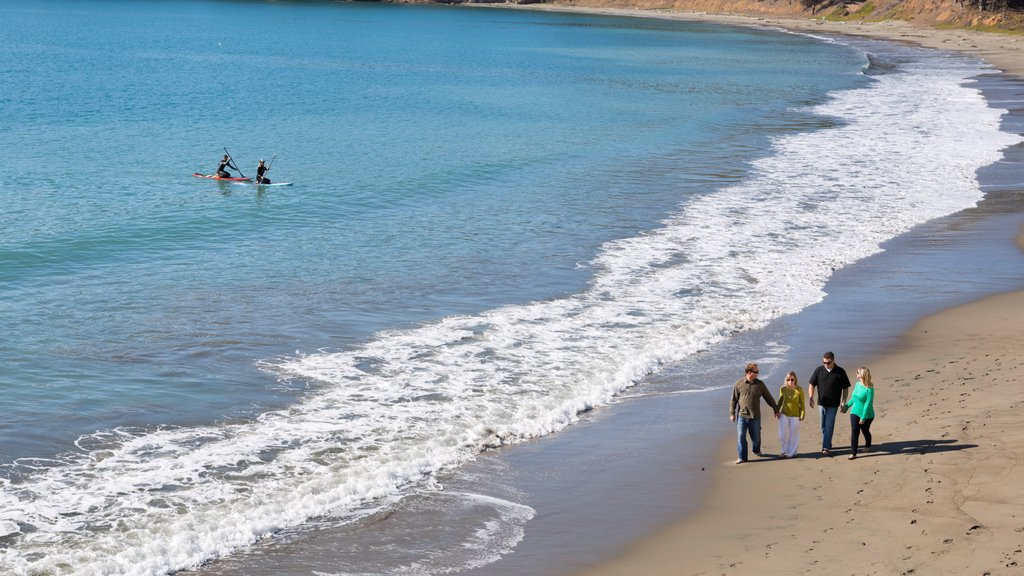 San Simeon which includes a beach and general coastal views as well as a family