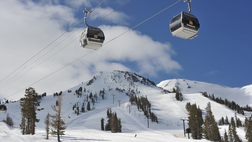 Central Interior California featuring a gondola, snow and mountains