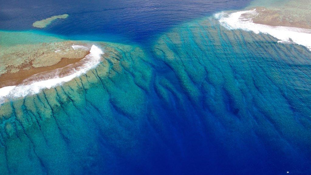 Tahiti featuring island views, general coastal views and coral