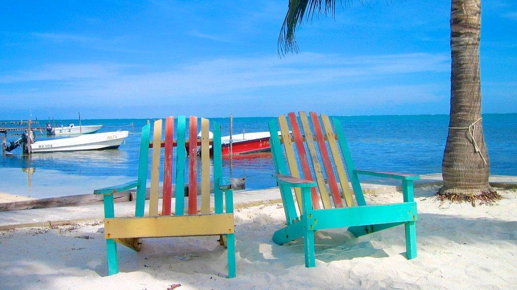 Cayo Corker que incluye una playa
