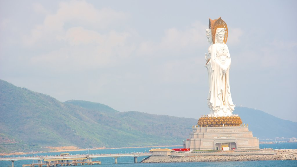Guanyin Statue of Hainan featuring a statue or sculpture