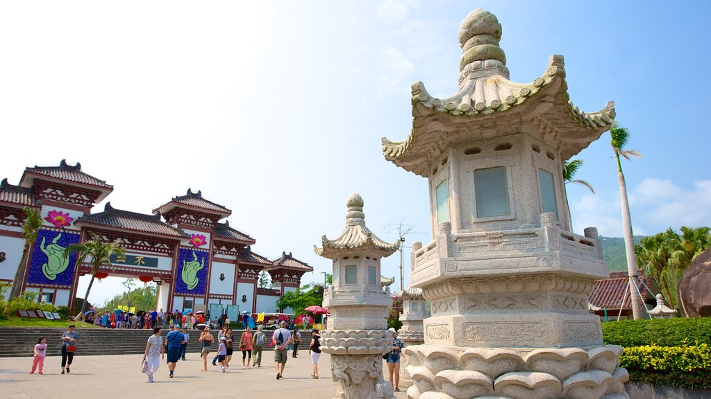 Nanshan Temple featuring a square or plaza