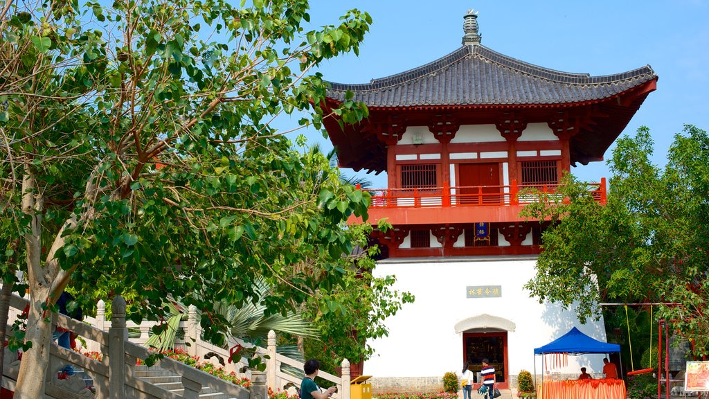 Nanshan Temple featuring religious aspects and a temple or place of worship