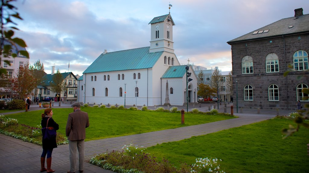 Reykjavik featuring heritage architecture, a church or cathedral and religious elements