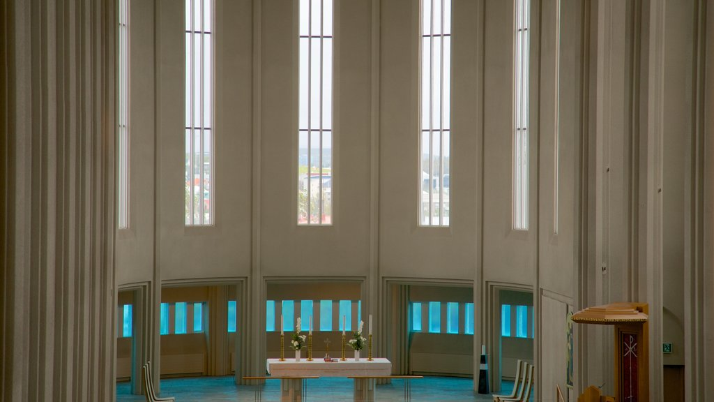 Hallgrimskirkja featuring interior views, heritage architecture and religious elements