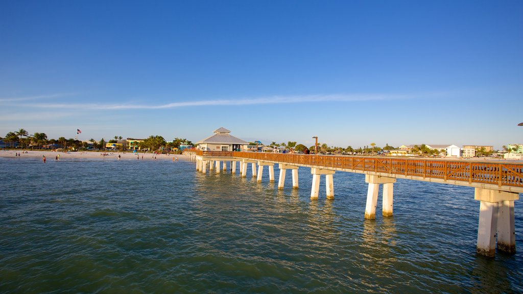 Fort Myers Beach showing general coastal views and a bridge