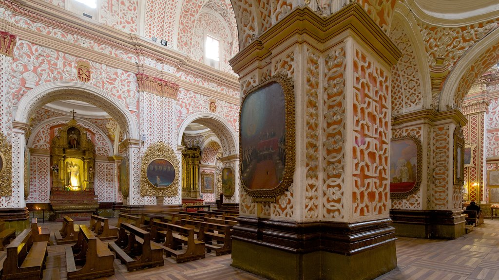 La Merced Church featuring interior views, a church or cathedral and religious elements