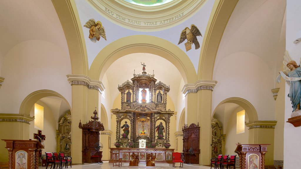 Trujillo Cathedral featuring interior views, religious elements and a church or cathedral