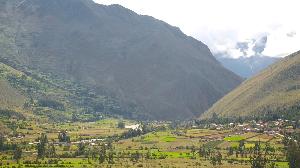 Ollantaytambo que incluye vistas de paisajes y montañas