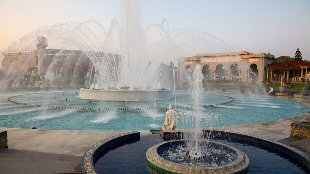 Exposition Park which includes a fountain
