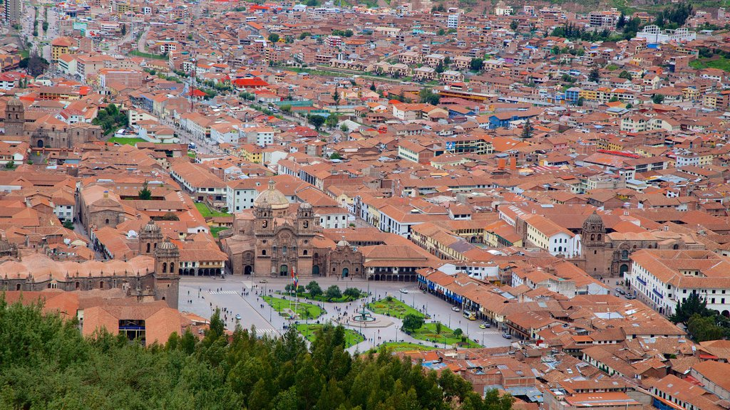 Sacsayhuaman showing a city and landscape views