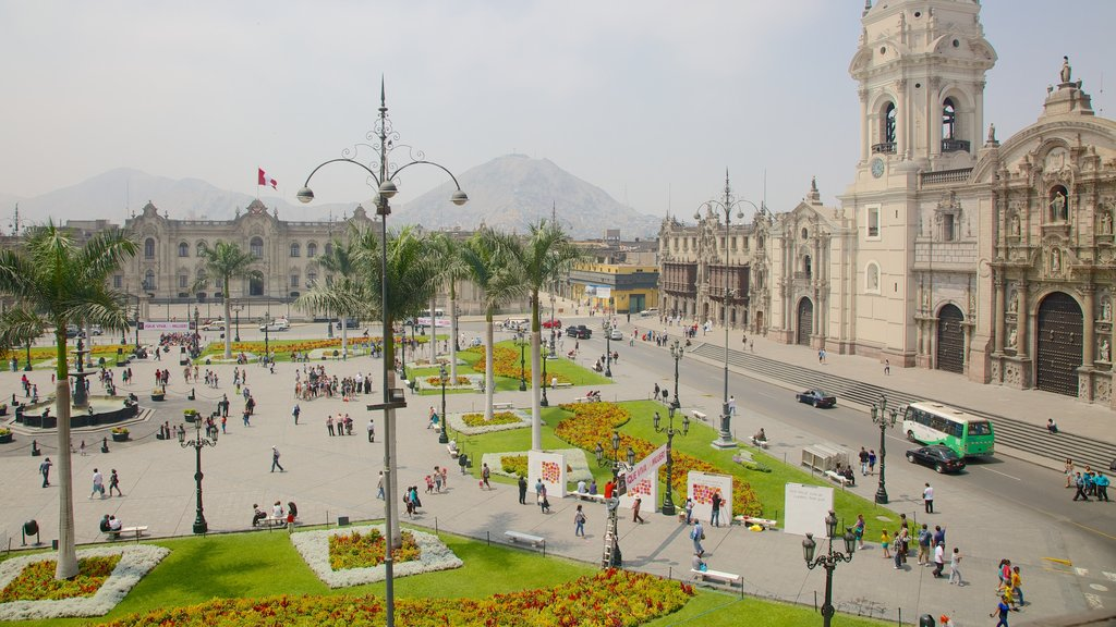 Plaza Mayor featuring a square or plaza, landscape views and a city
