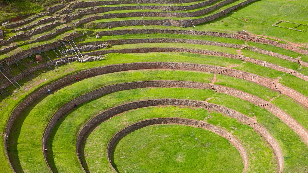 Moray Terraces showing landscape views and indigenous culture