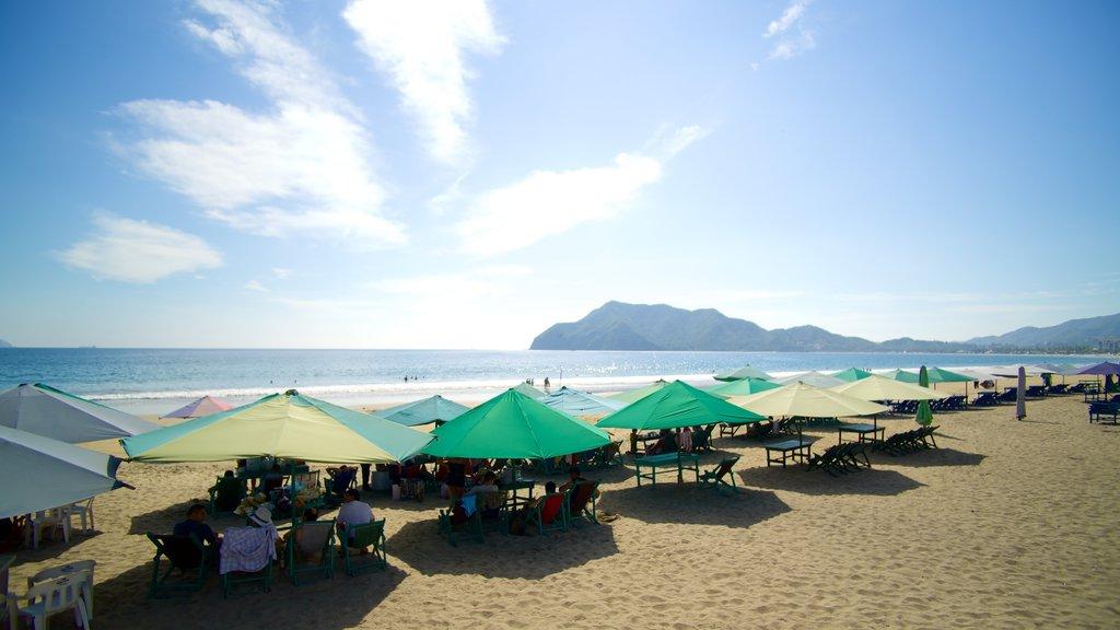 Playa Miramar which includes general coastal views and a sandy beach