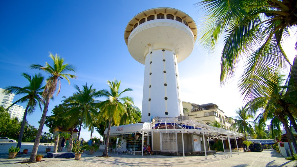 Marina Ixtapa featuring street scenes, tropical scenes and a city