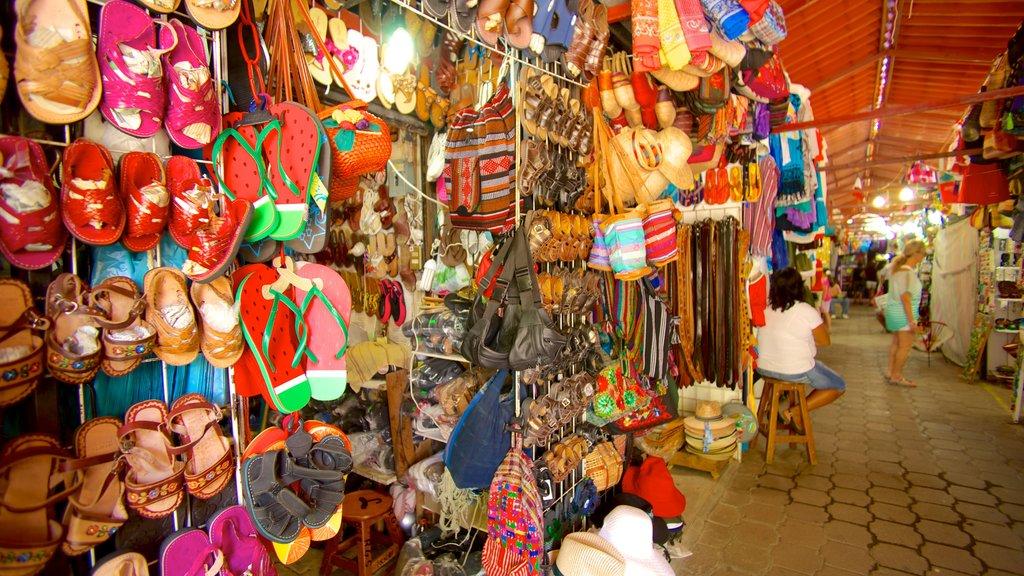 Ixtapa - Zihuatanejo featuring markets and interior views
