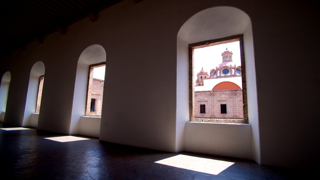 Morelia showing interior views and a small town or village