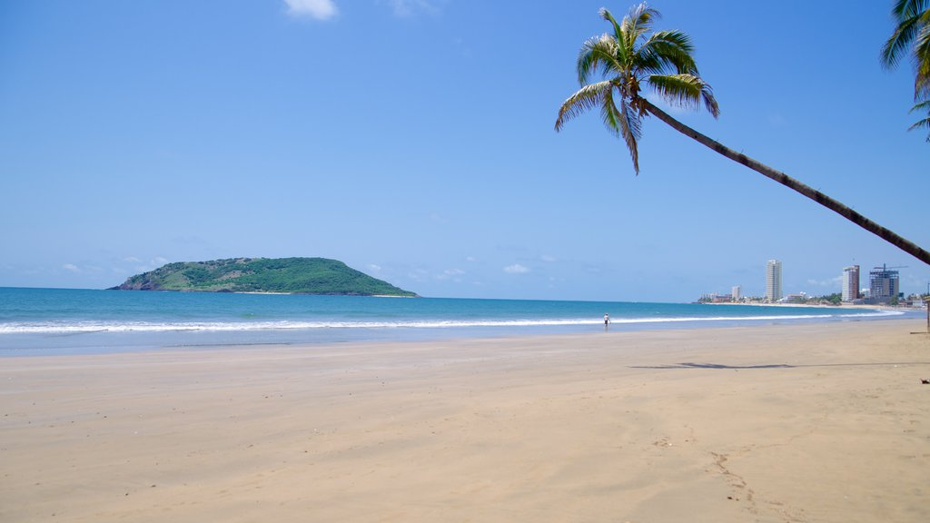 Mazatlan featuring a sandy beach and tropical scenes