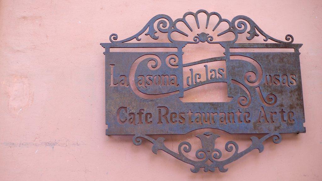 Rose Garden showing signage