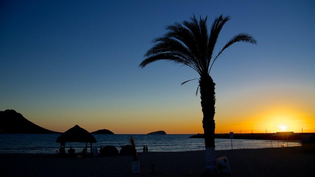 Playa Miramar featuring tropical scenes, a sunset and general coastal views