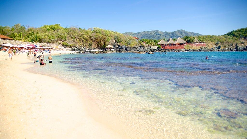 Ixtapa Island featuring a beach