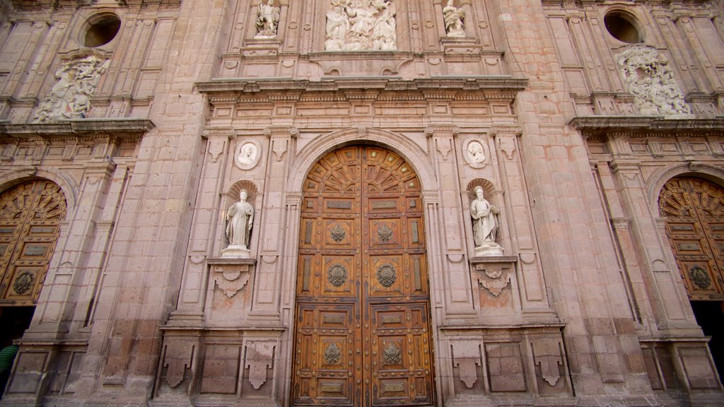 Morelia Cathedral showing heritage architecture and a church or cathedral