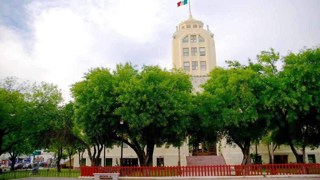 Antiguo Palacio Federal which includes street scenes