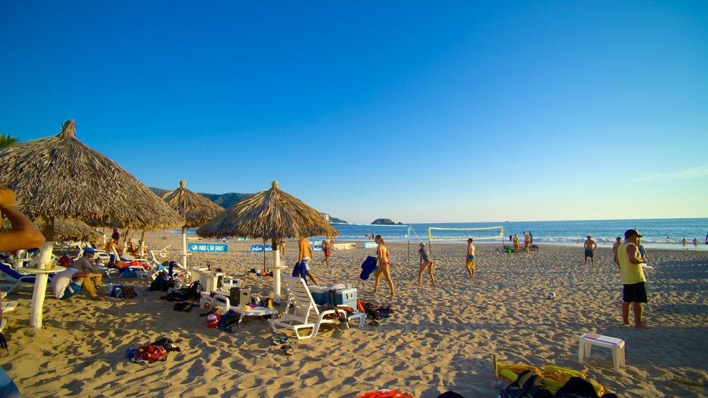 El Palmar Beach showing a luxury hotel or resort, a sandy beach and general coastal views