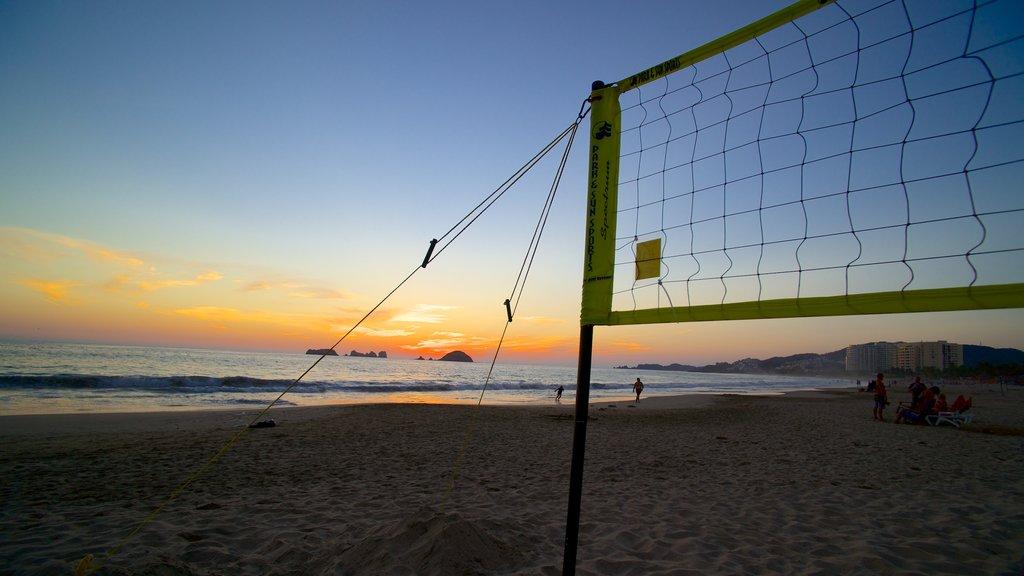El Palmar Beach featuring a sandy beach and a sunset
