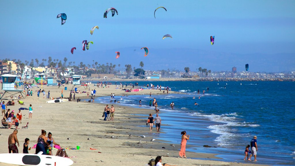 Long Beach featuring general coastal views, a beach and kite surfing