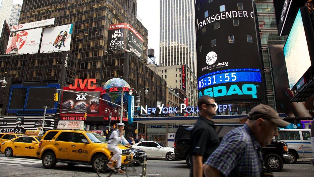 Times Square caracterizando cbd, uma cidade e um arranha-céu