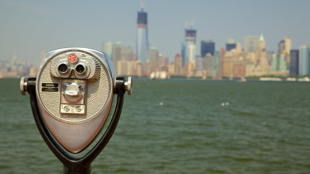 Statue of Liberty featuring views and general coastal views