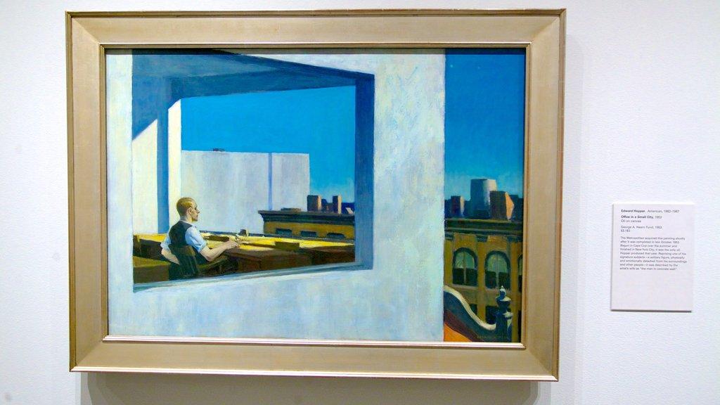 Metropolitan Museum of Art showing art and interior views