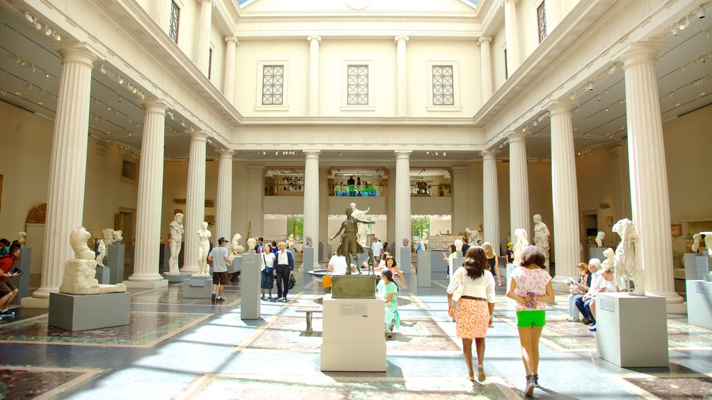 Metropolitan Museum of Art showing art and interior views as well as a large group of people