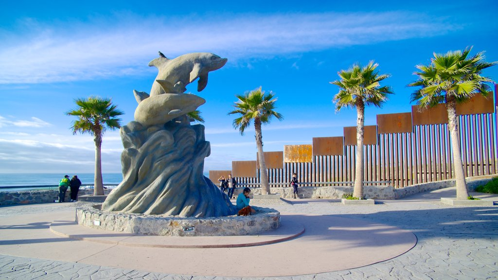 Tijuana showing outdoor art, a statue or sculpture and a square or plaza