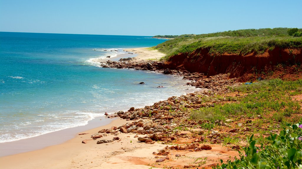 The Kimberley featuring landscape views and a sandy beach