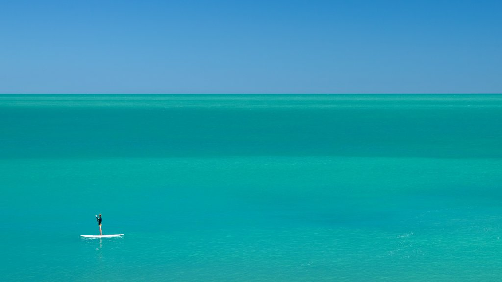 Cable Beach featuring tropical scenes, watersports and general coastal views