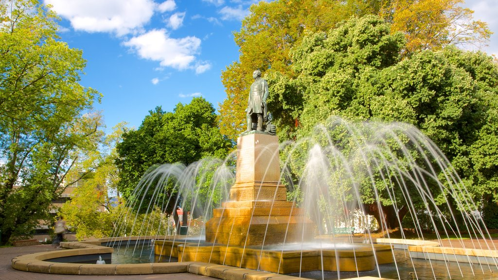 Franklin Square featuring a fountain and a square or plaza