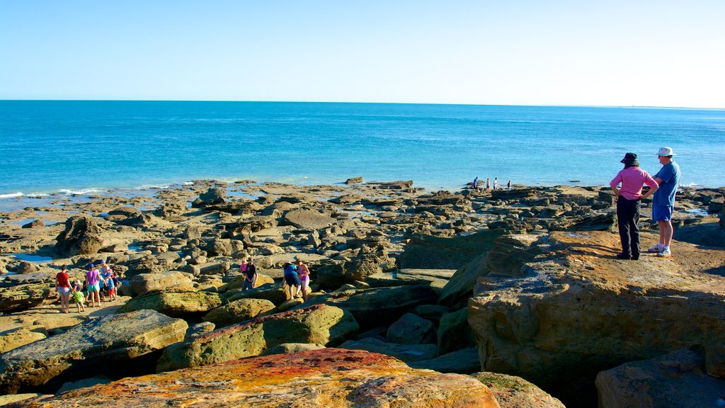 Gantheaume Point which includes rocky coastline as well as a couple