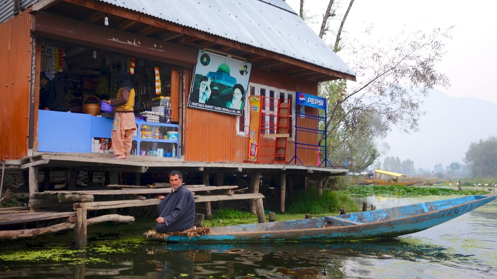 Jammu and Kashmir showing a river or creek, wetlands and kayaking or canoeing