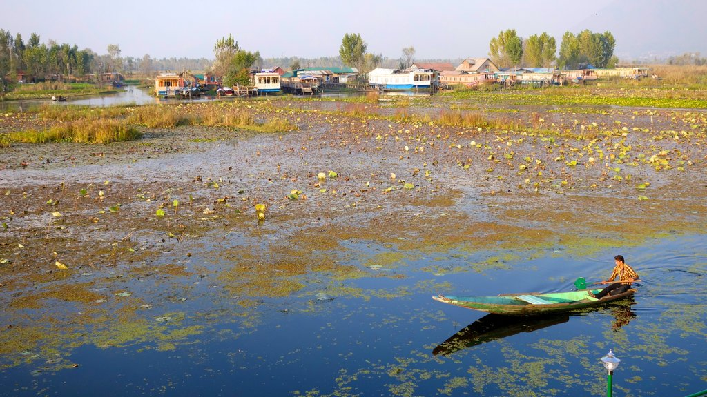Jammu and Kashmir which includes kayaking or canoeing and wetlands as well as an individual male