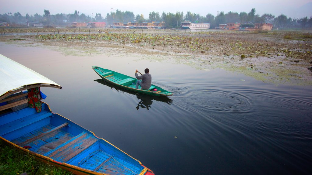 Jammu and Kashmir which includes wetlands and kayaking or canoeing as well as an individual male