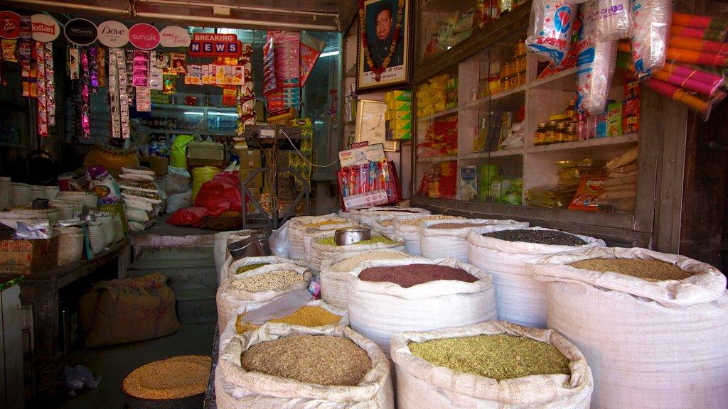 Jaipur ofreciendo mercados, vistas interiores y comida