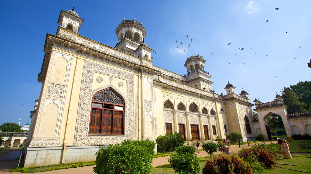Chowmahalla Palace featuring a city, a castle and heritage architecture