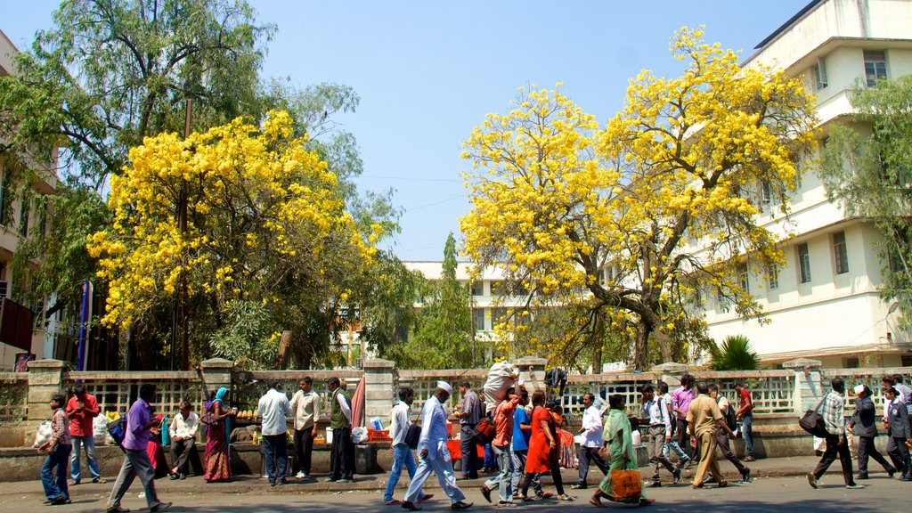 Pune showing street scenes and a city as well as a large group of people