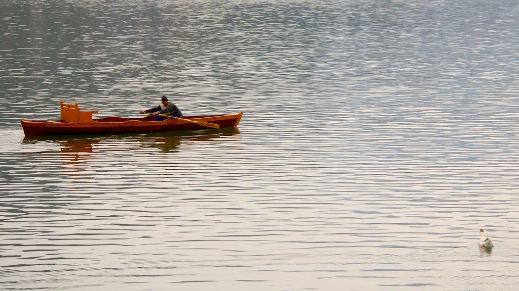 Bhimtal showing kayaking or canoeing, a lake or waterhole and landscape views