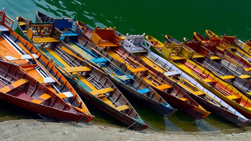 Bhimtal showing boating and kayaking or canoeing