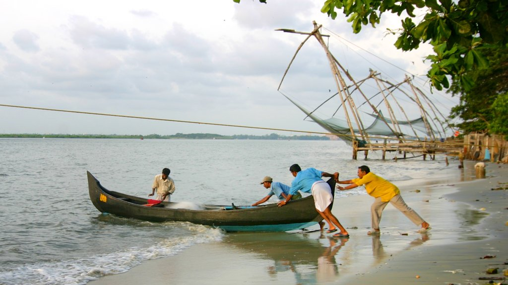 Cochin which includes landscape views, a bay or harbor and general coastal views
