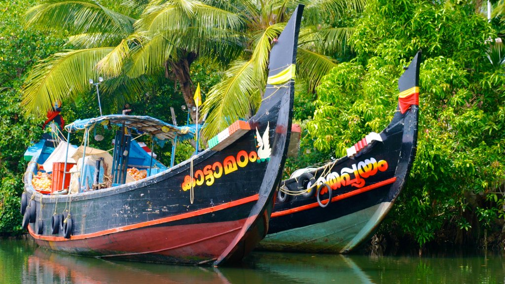 Cochin which includes forests, a river or creek and boating