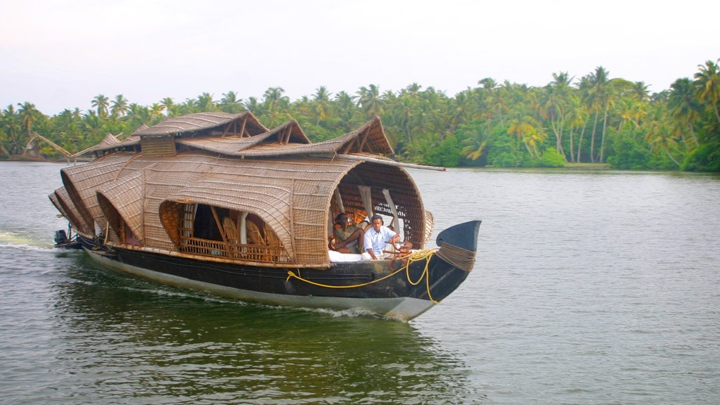 Cochin showing landscape views, a river or creek and boating